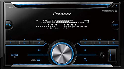 Pioneer Pioner FH-S501BT Double Din CD Receiver with Improved Arc App Compatibility/MIXTRAX/Built-in Bluetooth