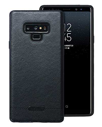 Samsung Galaxy Note 9 Case UCC Luxury PU Leather Grain with Full Body Protective and Anti-Scratch and Non-Slip Design Design for Samsung Galaxy Note 9 (Black)