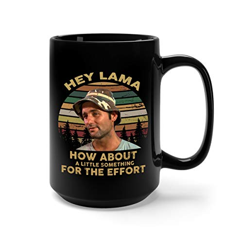 Hey Lama How About A Little Something for The Effort Ceramic Coffee Mug Tea Cup (15oz, Black)]()