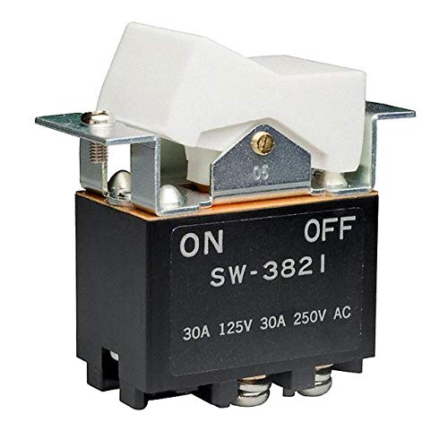 SWITCH ROCKER DPST 30A 125V (Pack of 2) (SW3821/UC) by NKK Switches