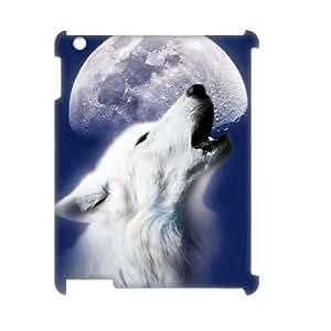 SHJFDIYCase Design Customized Wolf Moon Durable Hard 3D Plastic Case Cover for Ipad2,3,4, Customized Phone Case SHJF-521458