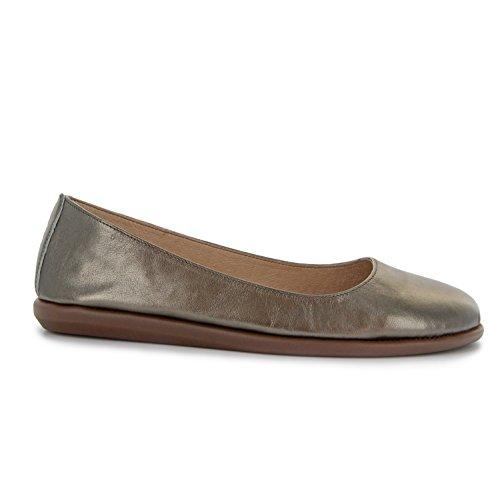 Joan Vass Patricia Damen Leder Ballett Flache Schuhe (Weitere Farben-Designs und Größen) Bronze