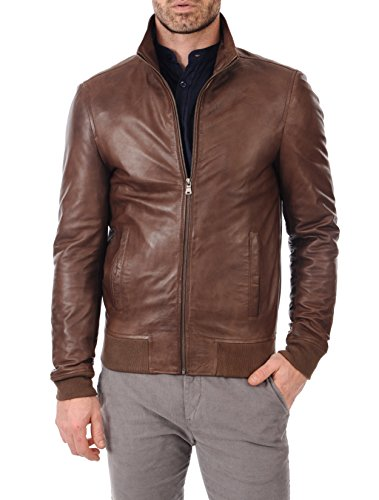 - KYZER KRAFT Mens Leather Jacket Bomber Motorcycle Biker Real Lambskin Leather Jacket for Mens