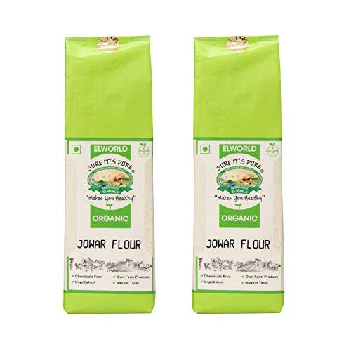 Elworld Organic Jowar Flour - 500 Grams X 2