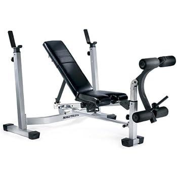 Amazon Com Nautilus Nt1430 Fold Up Olympic Weight Bench