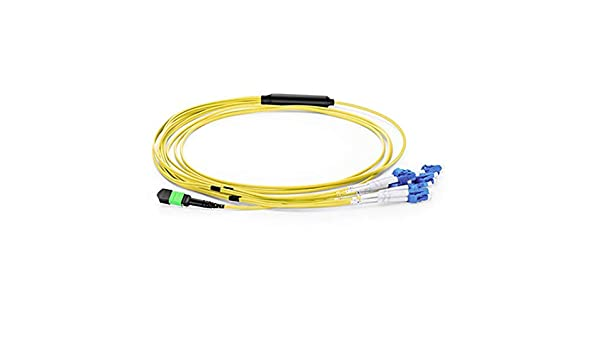 MTP to 12xLC (6 Duplex) Single-Mode Breakout Fiber Patch Cable Branch Cable:0.9mm 100m