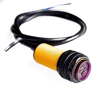 WINGONEER E18-D80NK Conmutador fotoeléctrico infrarrojo Módulo de detección de obstáculos: Amazon.es: Electrónica