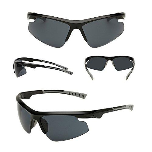 Lente para Marco Gafas Negro Gafas sol sol no Dintang hombres ligeras Gafas antideslumbrantes UV400 profesionales Gafas de para Gris polarizadas de exteriores w1qSaHX