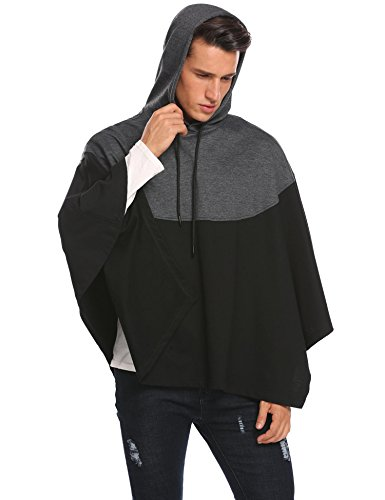 Hotouch Mens Hipster Hip Hop Fashion Pullover Hoodie Sweatshirts Jacket (Charcoal Gray XXL) by Hotouch (Image #3)