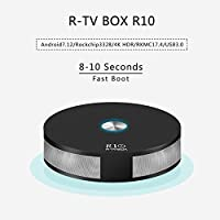 R-TV BOX R10 4G DDR4 RAM 32G ROM Rockchip RK3328 Android 7.1.2 Quad-Core 4K UHD USB 3.0 Dual WiFi AC 2T2R BT4.1 H.265 TV Box Media Player