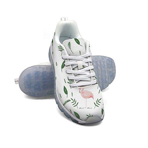 Faaerd Foglie E Fenicotteri Da Donna In Mesh Traspirante Cuscino Daria Casual Moda Sneakers Da Ginnastica Sportiva A Piedi Scarpe Sportive Da Corsa
