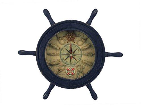Hampton Nautical Rustic Ship Wheel Clock, 12
