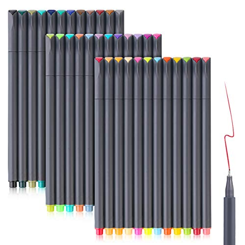Bullet Journaling Pens Set, Taotree Fineliner Colored Sketch Writing Drawing Pens, Porous Fine Point Pens Markers for Planner Note Taking Calendar Coloring Art Projects (30 Vivd Color +6 Neon Color) (Found My Mind In A Brown Paper Bag)