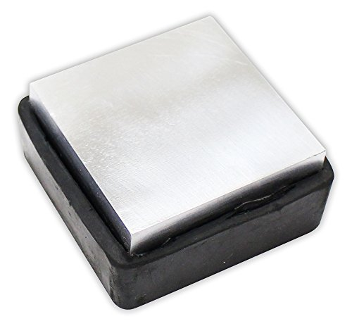 Steel & Rubber Bench Block, 2.25 Inch Square