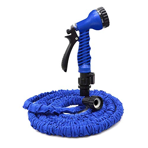 Expandable Garden Hose with 7 Function 25ft Blue