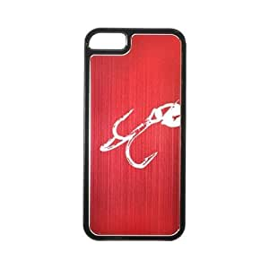 Apple Iphone 5 Hard Back Cover W/ Red Aluminum Back - Fish Hook 2.0