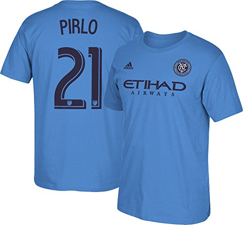 adidas Andrea Pirlo New York City FC #21 MLS Men's Player T-Shirt Blue (XLarge)