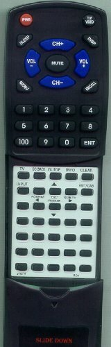RCA Replacement Remote Control for R52WH77YX61, R56WH78YX61, R56WH76, R61WH76