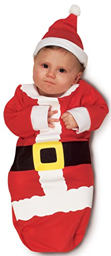 Santa Claus Costumes For Toddler (Rubie's Costume Newborn Santa Claus Bunting, Red, One Size Costume)
