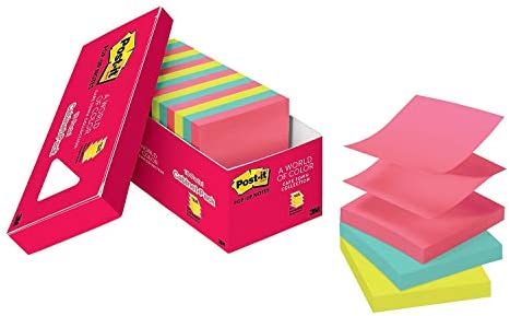 Cape Town Collection 3 in x 3 in 3301-5AN Post-it Pop-up Notes 5 Pads//Pack ,Multicolor America/'s #1 Favorite Sticky Note
