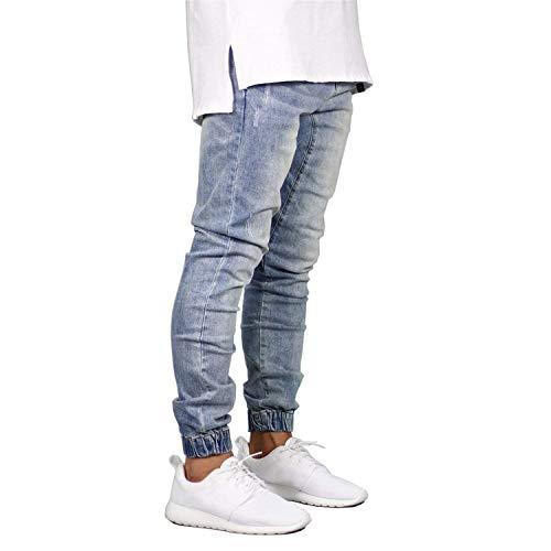 Uomo Fashion Denim Tempo Joggers Bolawoo Design Marca Di Pantaloni Jeans Da Stretch Lunghi Libero Hop Azzurro Hip Mode Vintage Eqx0IawdWa