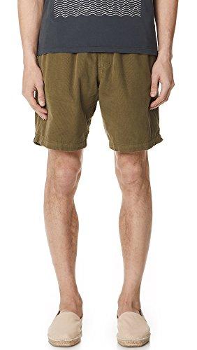 Mollusk Men's Corduroy Shorts, Mash Green, Medium