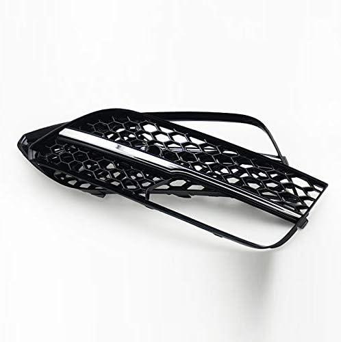 LSJGG Frontsto/ßstange Nebelscheinwerfer Rahmen RS3-Art-Silber Bar Nebelscheinwerfer Nebelscheinwerfer Grill Grille Fit for Audi A3 Flie/ßheck 2014-2015 Zubeh/ör