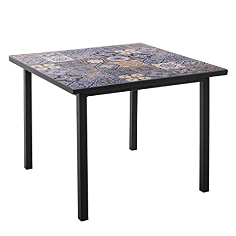 Tavolo In Cemento Da Giardino.Tavolo Da Giardino Quadrata In Quadretti Di Cemento Deba L 90 X L