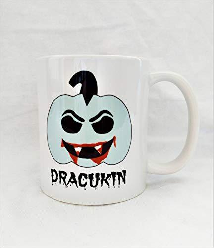 Horrorkins - Dracula Pumpkin Coffee Mug - Dracukin - FREE UK Delivery - Ships Worldwide - Halloween - Horror - Vampire - Horror Movie Gift ()