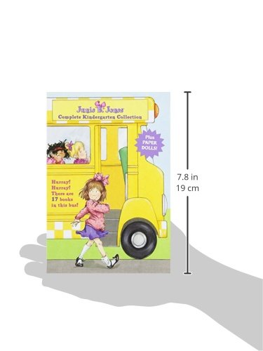 Junie B. Jones Complete Kindergarten Collection: Books 1-17 with paper dolls in boxed set by RHBYR (Image #6)