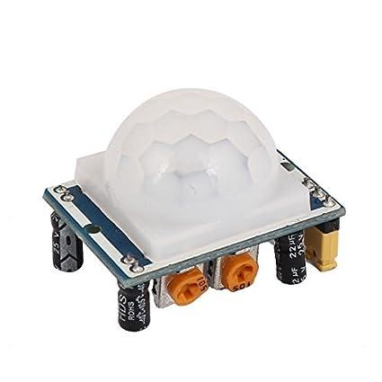 eDealMax Regolabile IR Pyroelectric del modulo del rivelatore 32mmx24mm Infrared PIR sensore di movimento