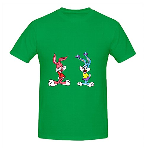 karin leereveld KARLEE 100% Cotton Round Neck Buster and Babs Bunny Men