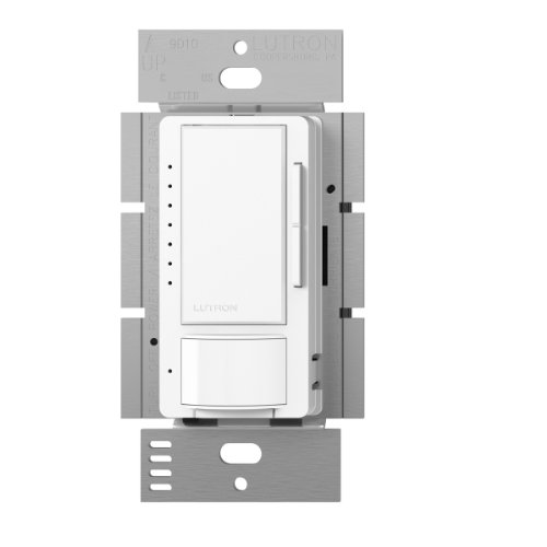 Lutron Maestro C.L Dimmer and Vacancy Motion Sensor, Single-Pole and Multi-Location, MSCL-VP153M-WH, White (Single Pole Sensor)