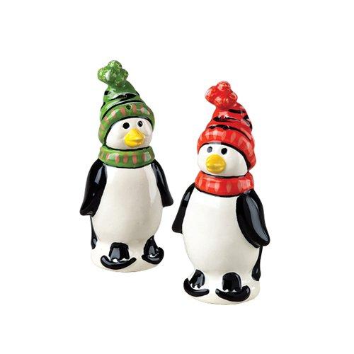 - Pfaltzgraff Penguin Skate Sculpted Salt And Pepper Set