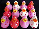 One Dozen (12) Love Rubber Duckys