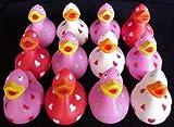 One Dozen (12) Love Rubber Duckys