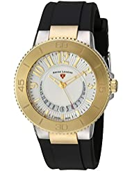 Swiss Legend Womens 11315SM-SG-02 Riviera Analog Display Swiss Quartz Black Watch