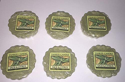 Yankee Candle Lot of 6 Sage & Citrus Tarts Wax - Sage Citrus