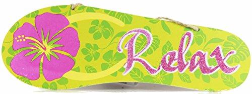 Glitter Summertime Flip Flop Wall Decoration (Relax)