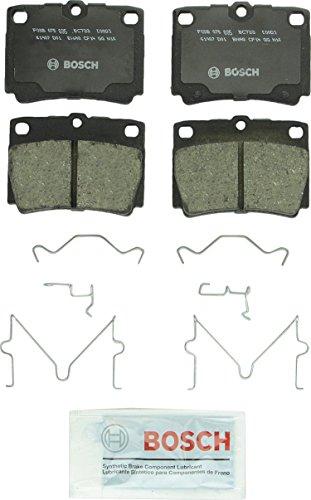 Bosch BC733 QuietCast Premium Ceramic Disc Brake Pad Set For 1997-2004 Mitsubishi Montero Sport; Rear