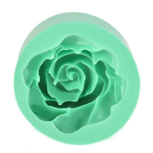 1PC Silicone 3D Floral Round Mold Fondant Cake Decoration DIY Mould Chocolate Cookie Purple/ Green