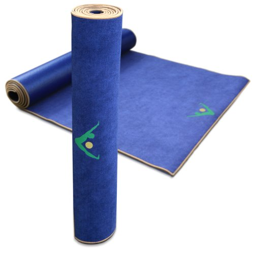 Life Fitness Towel: Aurorae Non Slip 2-in-1 Yoga Mat With Integrated Towel, 72