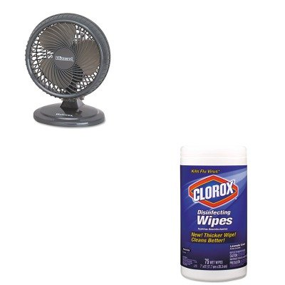KITCOX01761EAHLSHAOF87BLZUC - Value Kit - Holmes Lil' Blizzard 7amp;quot; Two-Speed Oscillating Personal Table Fan (HLSHAOF87BLZUC) and Clorox Disinfecting Wipes (COX01761EA)