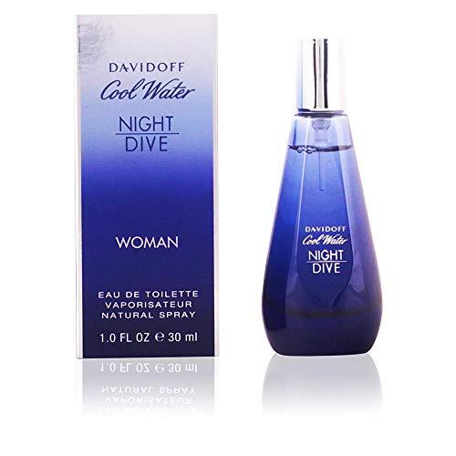 Zino Davidoff Cool Water Night Dive Eau de Toilette Spray for Women, 1.7 Ounce