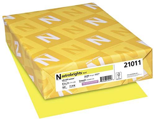 Astrobrights Premium Color Paper, 8-1/2 x 11 Inches, Lift-Off Lemon, 500 Sheets
