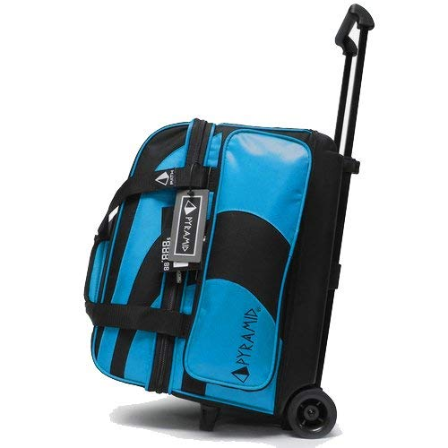 Pyramid Path Deluxe Double Roller Bowling Bag (Asgard Blue) (Bowling Ball 2 Bag)
