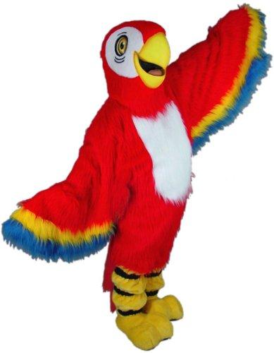 Red Macaw Mascot Costume