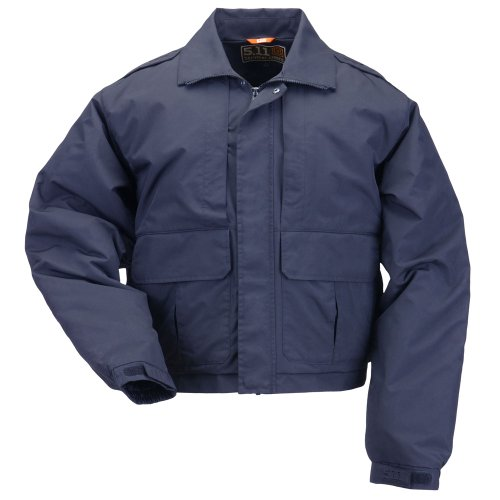 Tactical Outerwear Jackets 5.11 (5.11 Tactical #48096 Double Duty Jacket (Dark Navy, Medium))