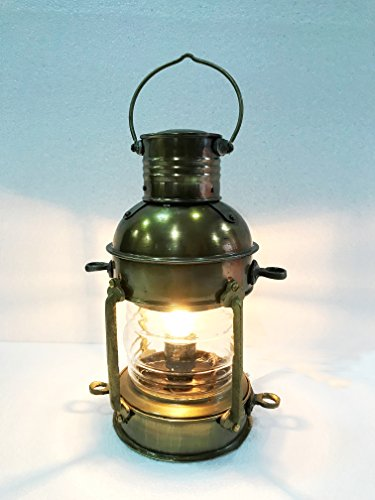 Vintage Brass Electric Lamp Maritime Ship Lantern Boat Light Decorative Light