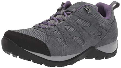Columbia Women's Redmond V2 Waterproof Hiking Shoe, ti Grey Steel, Plum Purple, 8.5 Regular US
